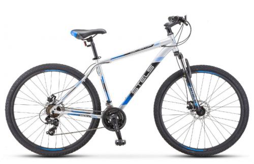 Велосипед 29 Stels Navigator 900 D F010 (рама 21) Серебристый/синий