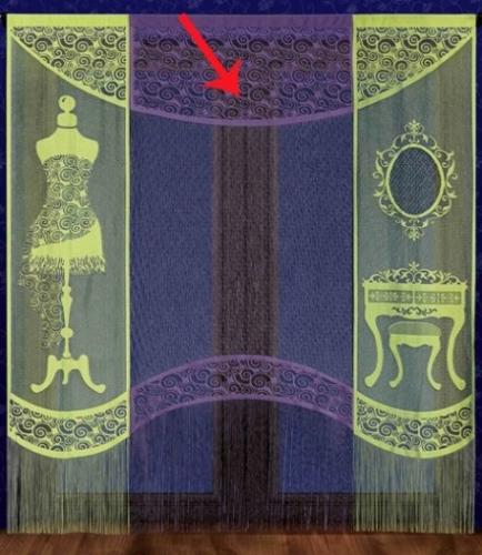 Готовые шторы арт. 616А, Garderoba (Гардероб), панель ЦЕНТРАЛЬНАЯ, цвет ФИОЛЕТОВЫЙ, размеры 100 см ширина, 245 см высота, на туннели