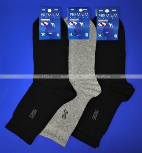 Ростекс (Рус-текс) носки мужские с лайкрой Премиум В-21-ДС серые