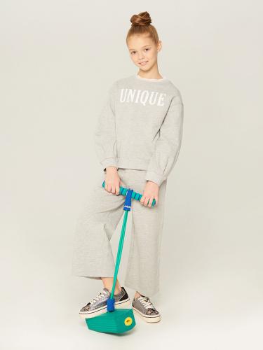 Джемпер детский для девочек Lamees 1 серый 0922117014
