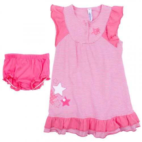 Комплект детский трикотажный для девочек: платье, трусы