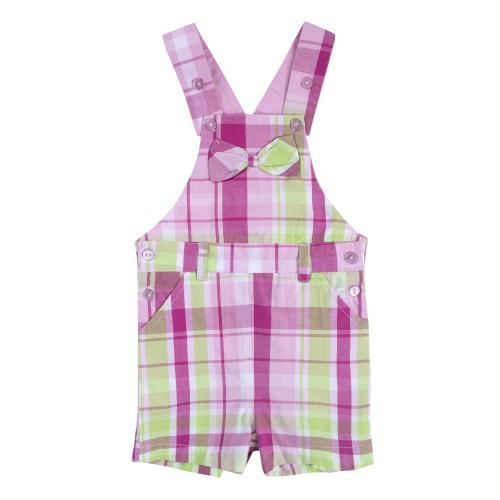 Комплект детский для девочек: фуфайка трикотажная (футболка), полукомбинезон текстильный