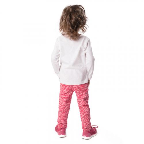Фуфайка детская трикотажная для девочек (футболка с длинным рукавом)