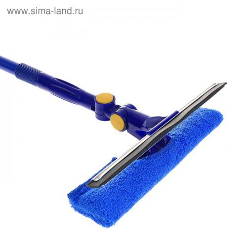 Окномойка с телескопической металлической ручкой, 25×92(134) см