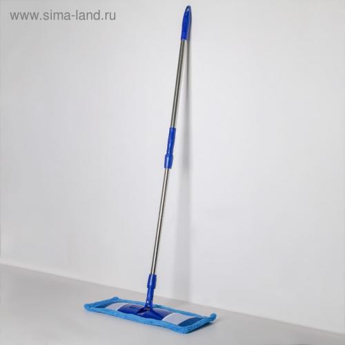 Швабра плоская «Ocean», телескопическая ручка, микрофибра 84-127 см