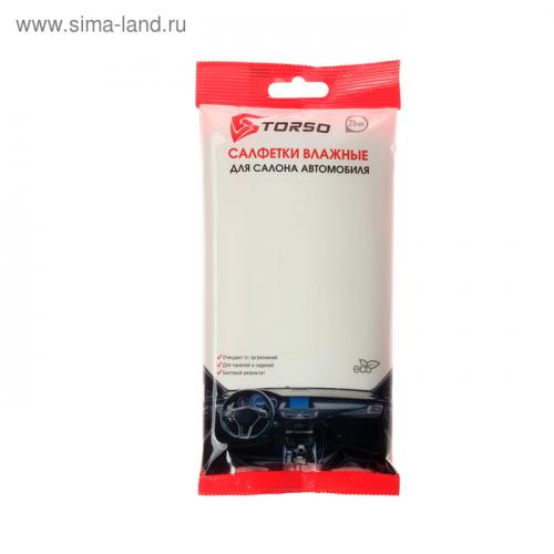 Влажные салфетки TORSO, для ухода за салоном автомобиля, 25 шт