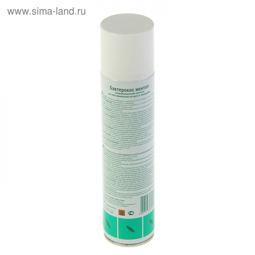 Средство для дезинфекции воздуха Бактерокос Ментол, 405 мл