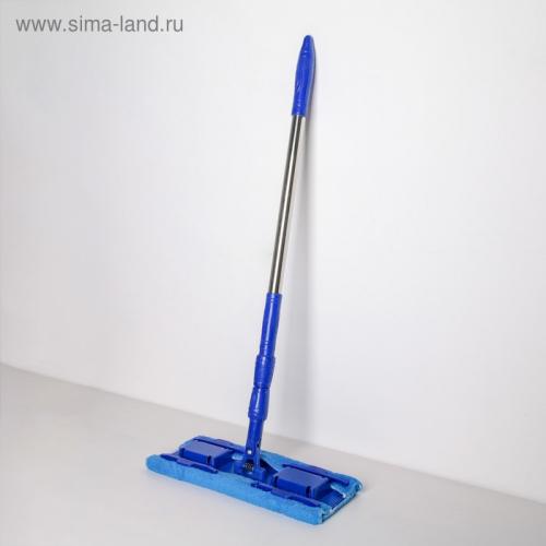 Швабра плоская «Ocean», телескопическая ручка 77-117 см, насадка микрофибра 36×14 см, цвет МИКС
