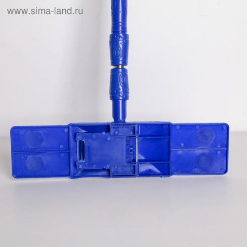 Швабра плоская «Ocean», телескопическая ручка 77-117 см, насадка микрофибра букли 40×10 см, цвет МИКС