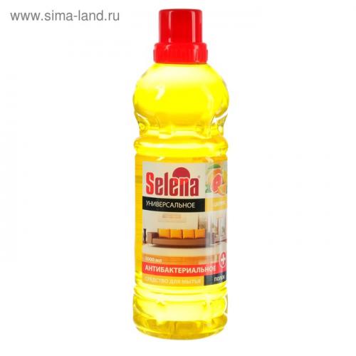 Средство для мытья полов Selena антибактериальное, Цитрус 1 л