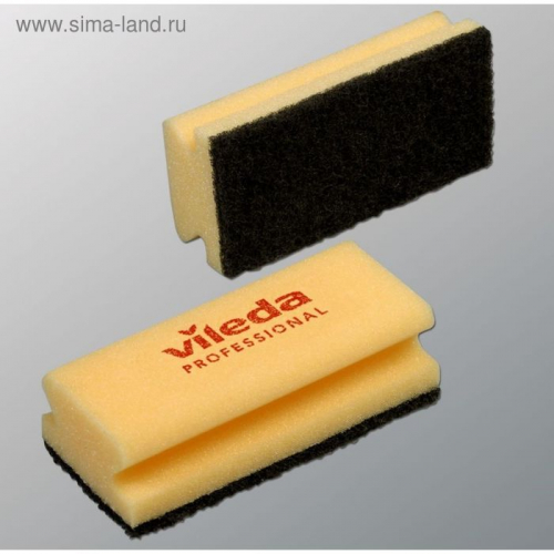 Губка для профессиональной уборки Vileda, чёрный абразив, 7 х 15 см