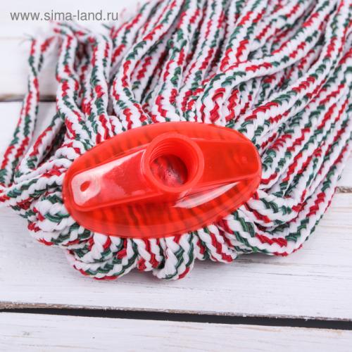 Насадка для швабры веревочная, микрофибра, цвет МИКС