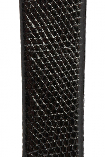 Классический ремешок для часов из кожи ящерицы. Ширина 22 мм #188311Черный