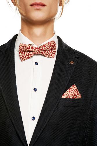 Комплект: галстук-бабочка и платок Уолл-стрит #203683Ярко-красный