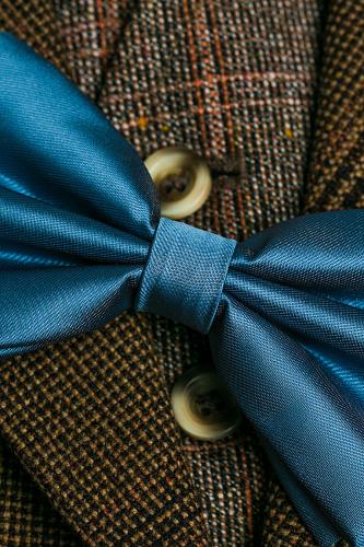 Галстук-бабочка #194671Серо-голубой