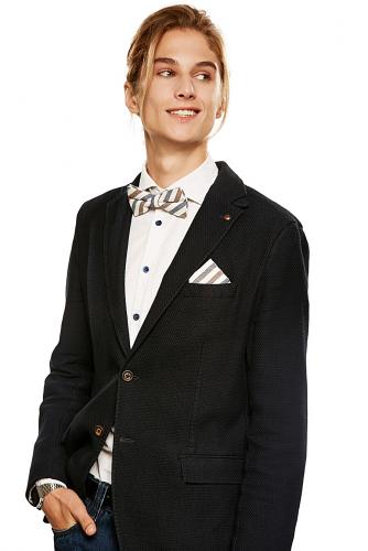 Комплект: галстук-бабочка и платок Пристегните ремни #189223Кофейный