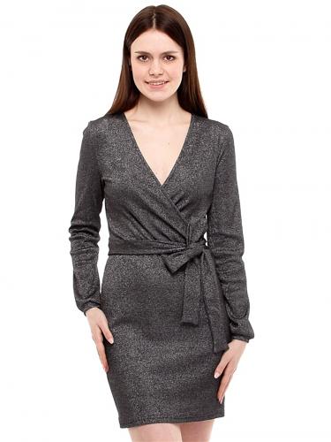 Платье #191762Черный+серебро