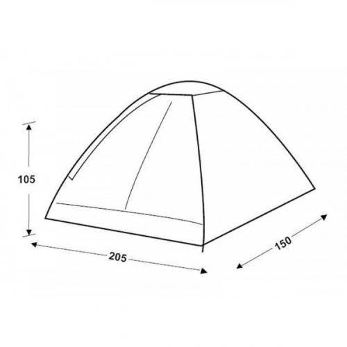 1673р. 1905р. 3016 MONODOME Fiber   палатка, 2, зелёный