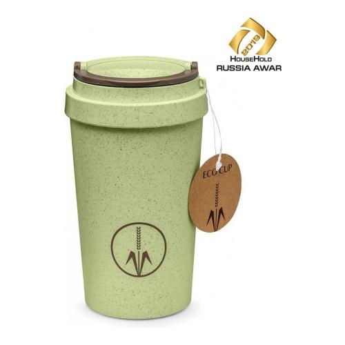 Термокружка дорожная Walmer Eco Cup, 0.4 л, цвет зеленый