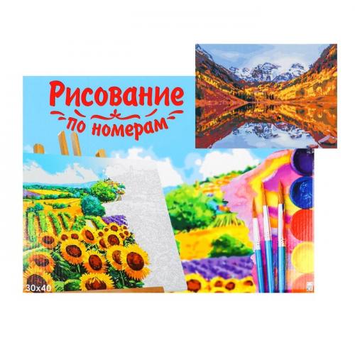 Картина по номерам на холсте, 30 × 40 см, «Завораживающий пейзаж»