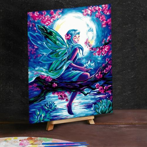 Картина по номерам на холсте 30×40 см «Фея при Луне»