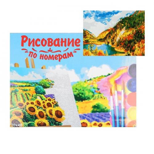 Картина по номерам на холсте 30 × 40 см, «Осенний пейзаж»