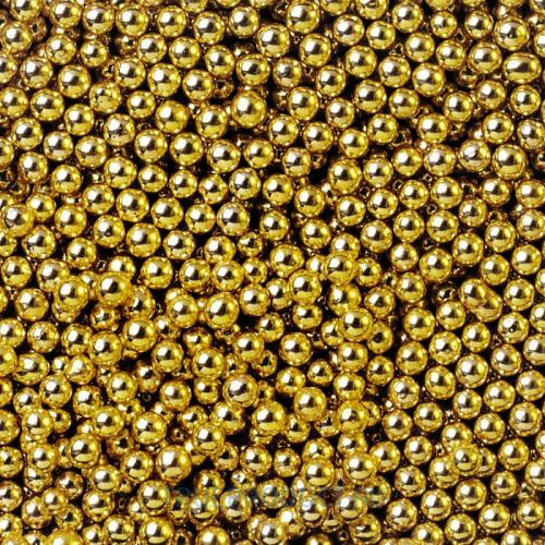 Посыпка сахарная Икра Золото 1-2 мм, 50 грамм