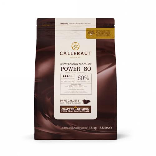 Горкий шоколад Callebaut POWER 80%