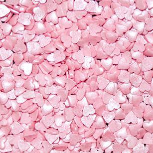 Кондитерская посыпка Сердца розовые перламутровые Мини 4 мм, 50 гр