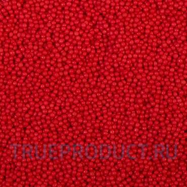 Посыпка Шарики алые (красные) 2 мм, 50 гр
