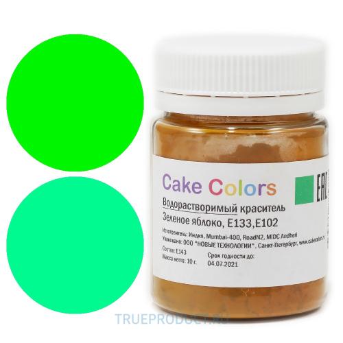Cake colors водорастворимый Зеленое яблоко, 10 г