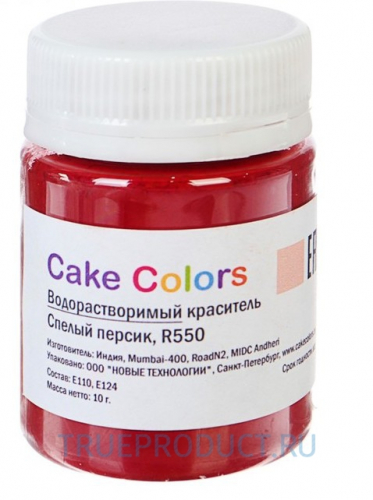 Cake colors водорастворимый Спелый персик, 10 г