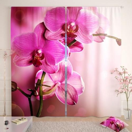 Фотошторы Розовая орхидея 2