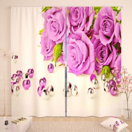 Фотошторы Жемчужные розы