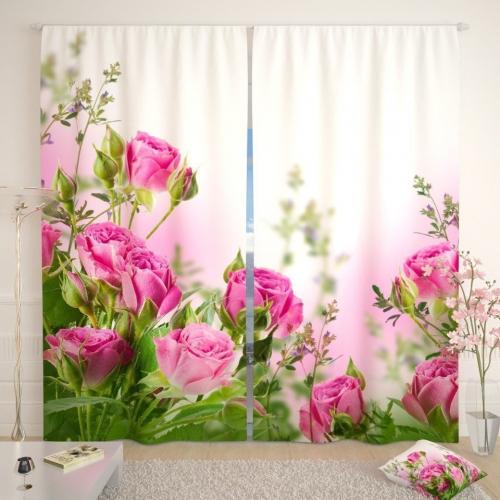 Фотошторы Букет алых роз