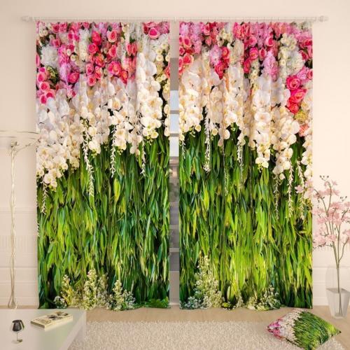 Фотошторы Гроздья лилий в зелени