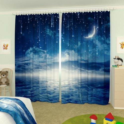 Детские фотошторы Ночное небо