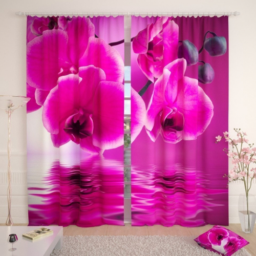 Фотошторы Розовая орхидея