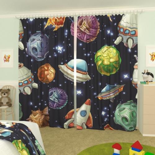 Детские фотошторы Астероиды