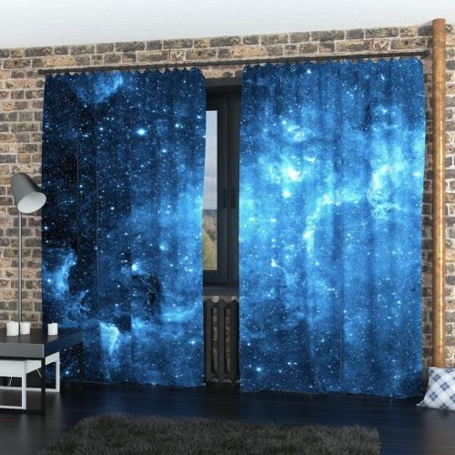 Фотошторы Синее звёздное небо