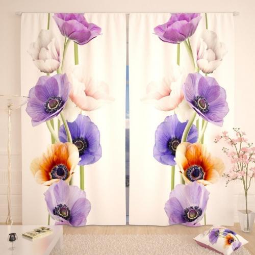 Фотошторы Разноцветные цветочки