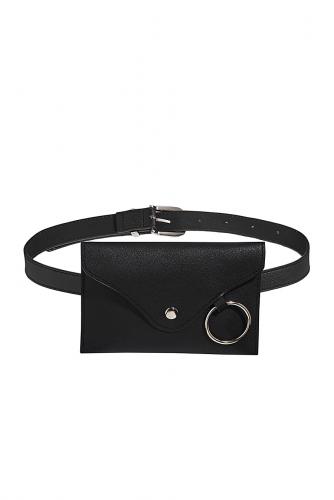 Поясная сумка Путь к простоте #195550Черный, серый