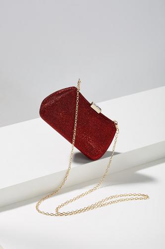 Клатч футляр #196310Темно-красный, золотистый