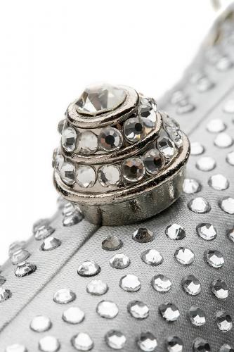 Клатч футляр Шкатулка Фаберже со съемной цепочкой #197098Серебристый, светло-серый