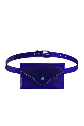 Поясная сумка Париж подождет #195442Фиолетовый, серебристый, белый