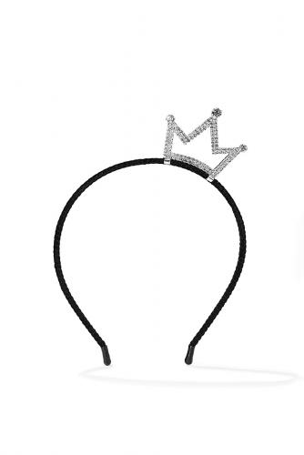 Ободок с короной #196047Черный, прозрачный