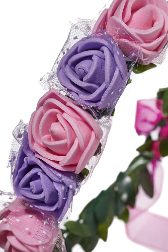Веночек для волос с розами