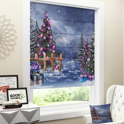 Римская штора Новогодняя коллекция 189