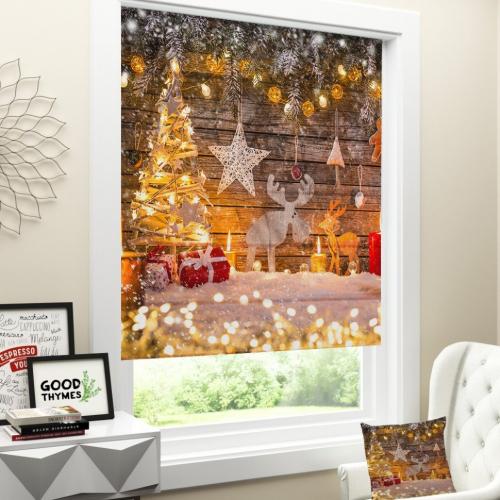 Римская штора Новогодняя коллекция 146