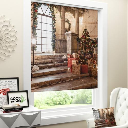 Римская штора Новогодняя коллекция 259